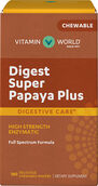 Vitamin World Digest Super Papaya Plus 180 Wafers