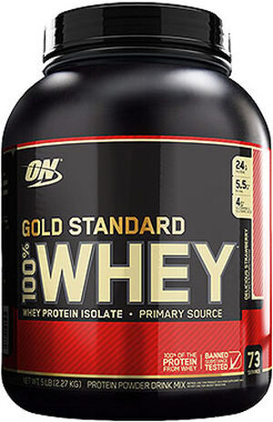 Gold Standard 100% Whey Protein Delicious Strawberry 5 lbs., , hi-res