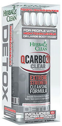 Herbal Clean QCarbo20™ Clear 20 oz. Liquid Strawberry Mango