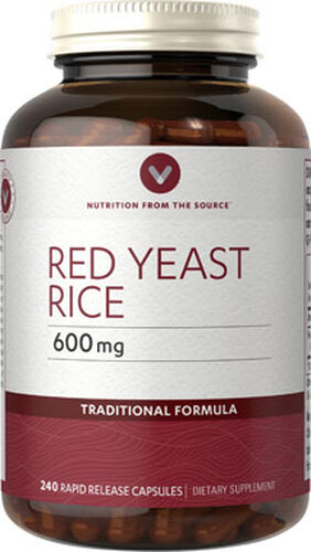 Vitamin World Red Yeast Rice 600 mg. 240 Capsules 600mg.