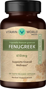 Vitamin World Fenugreek 610mg 100 Capsules 610mg.