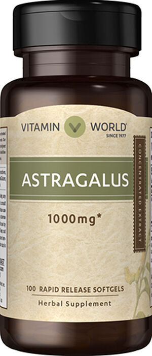 Vitamin World Astragalus 1000 mg. 100 Softgels