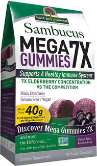 Nature's Answer Sambucus Mega Gummies 7X Black Elderberry