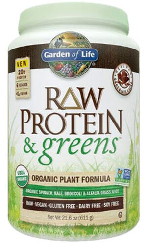 Garden Of Life RAW Protein & Greens Chocolate 22 oz. Powder