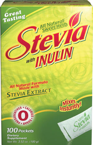 Vitamin World Stevia with Fiber 100 Packets