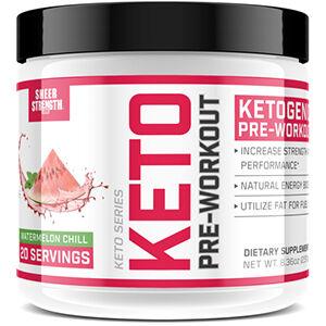Sheer Strength® Labs Keto Pre Workout Watermelon Chill 8 oz. Powder