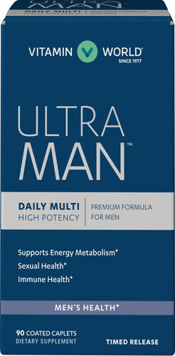 Vitamin World Ultra Man Daily Men's Multivitamins™ 90 caplets