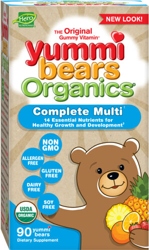 Hero Nutritional Yummi Bears Organics Children's Multivitamin Gummies 90 Gummies