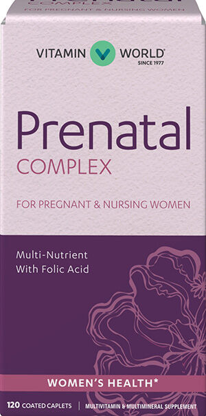 Vitamin World Prenatal Multivitamin Complex 120 Caplets