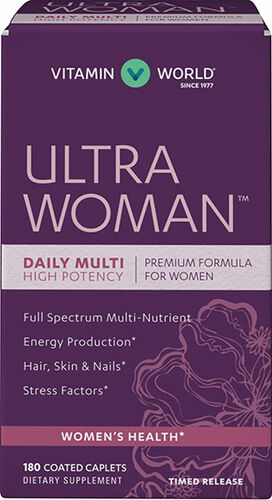 Vitamin World Ultra Woman™ Daily Women's Multivitamins 180 caplets