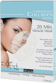 BioMiracle Coenzyme Q10 Collagen Essence 20 Min. Miracle Mask 5 Pieces
