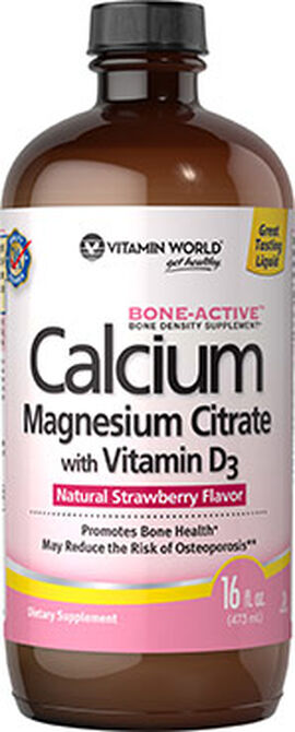 Calcium Magnesium Citrate with Vitamin D3 Strawberry