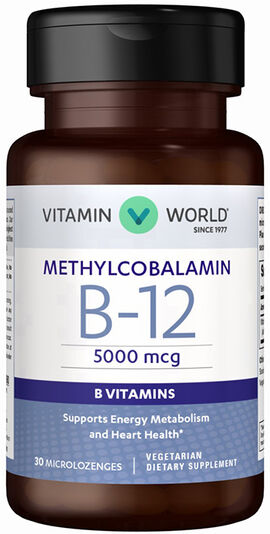 Vitamin B-12 Methylcobalamin 5000mcg