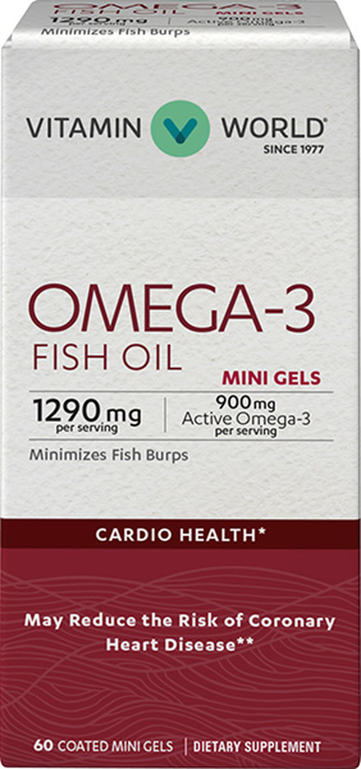 Omega-3 Fish Oil Premium Coated Mini Gels 900mg at Vitamin World | Tuggl