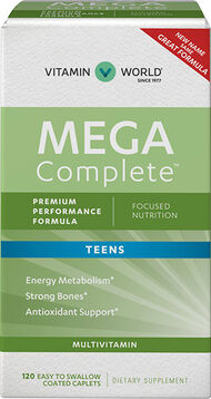 Vitamin World Mega Complete Vitamins for Teens 120 Caplets
