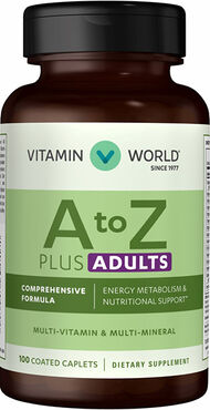 Vitamin World A to Z Plus Adults Multivitamins