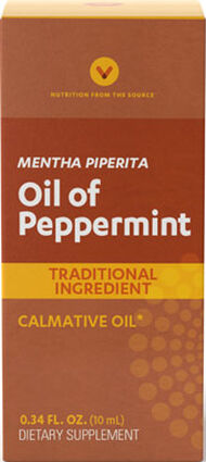 Vitamin World Peppermint Oil 45 mg. 10 ml. Liquid Peppermint