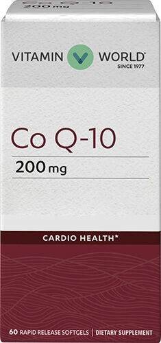 Vitamin World Co Q-10 200 mg. 60 Softgels
