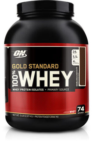 c163384f6 Optimum Nutrition Gold Standard 100% Whey Protein Double Rich Chocolate 5  lbs. 5 lbs