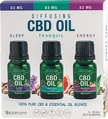 SpaRoom CBD Essential Oils 3-pack