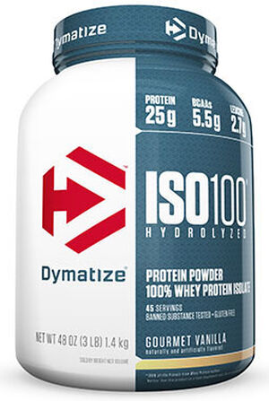 Dymatize® ISO-100® Whey Protein Isolate Gourmet Vanilla 3 lbs.
