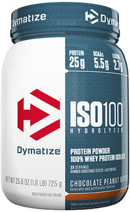 Dymatize ISO-100® Whey Protein Isolate 1.6 lbs. Chocolate Peanut Butter 1 lbs. Powder