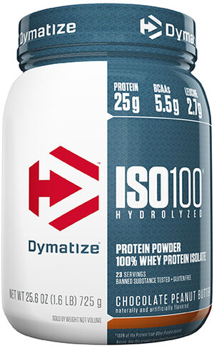 Dymatize ISO-100® Whey Protein Isolate 1.6 lbs. Chocolate Peanut Butter 1.6 lbs. Powder