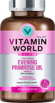 Vitamin World® Platinum Evening Primrose Oil 1000 mg