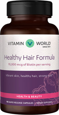 Vitamin World Healthy Hair Formula 10000 mcg. 90 Capsules