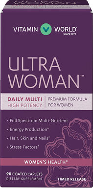 Vitamin World Ultra Woman™ Daily Multi Multivitamins 90 caplets