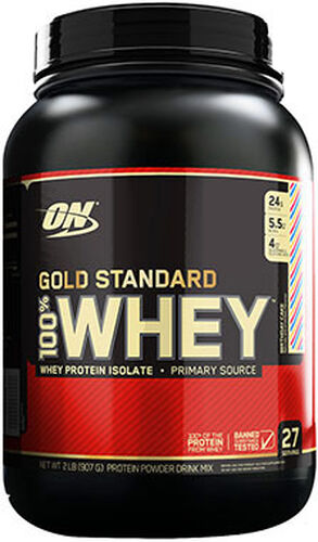 d9669fc47 Optimum Nutrition Gold Standard 100% Whey Protein Birthday Cake 2 lbs. 2  lbs.