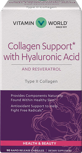 Vitamin World Collagen Support | Hyaluronic Acid | Resveratrol