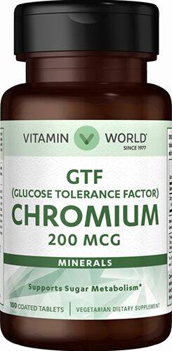 Vitamin World GTF Chromium 200 mcg. 100 Tablets