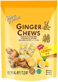 Prince of Peace Ginger Chews Lemon 4.4 oz. Chewables