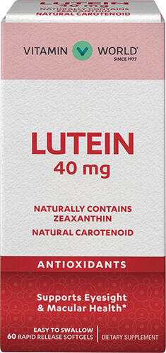 Vitamin World Lutein 40 mg. 60 Softgels