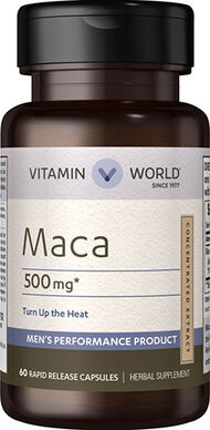 Vitamin World Maca 500 mg. 60 Capsules