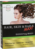 Purvana™ Max Hair, Skin, & Nails Max 5000 mcg. 30 Capsules