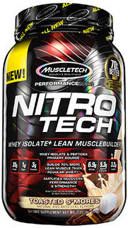 Nitro Tech™ Whey Isolate+ Toasted S'mores 2 lbs.