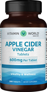 Apple Cider Vinegar 600 mg., , hi-res