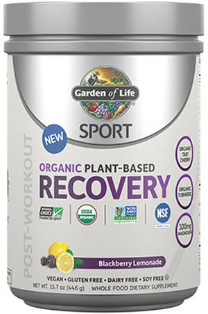 Sport Organic Plant-Based Recovery Blackberry Lemonade 15.7 oz., , hi-res