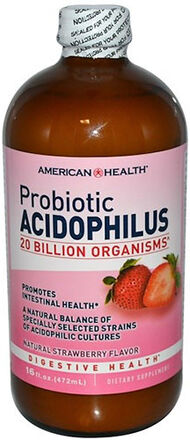 American Health Liquid Probiotic Acidophilus 16 oz. Liquid 20BILLION