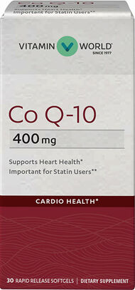 Vitamin World Co Q-10 400 mg. 30 softgels