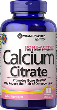 Vitamin World Calcium Citrate 1000 mg. 100 Capsules
