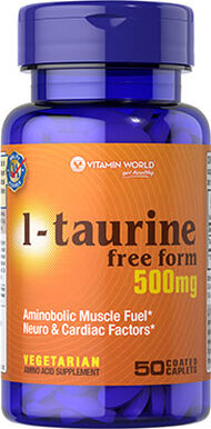 L-Taurine 500 mg., , hi-res