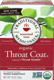 Traditional Medicinals Traditional Throat Coat Tea 16 Tea Bags