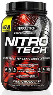 Nitro Tech™ Whey Isolate+ Milk Chocolate 2 lbs.