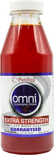 Purified Omni Cleansing Drink Extra Strength Fruit Punch 16 oz.