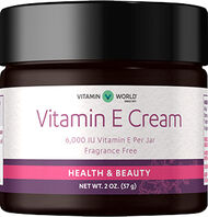 Vitamin World Vitamin E Cream 6000 IU 2 oz. Cream