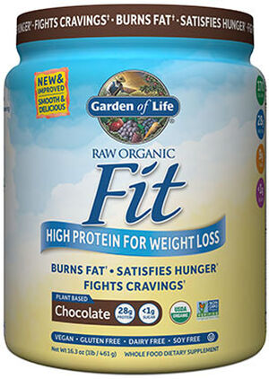 RAW Organic Fit Protein Chocolate 16 oz., , hi-res