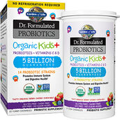 Garden Of Life Dr. Formulated Probiotics Organic Kids+ Berry Cherry 30 Chewables 5BILLION